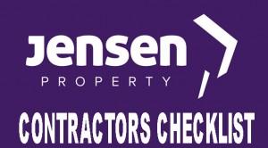 Jensen Contractor Checklist